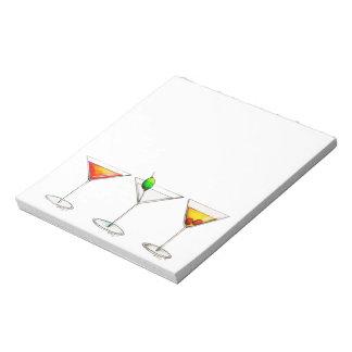 カクテルグラスのカクテルのマルティーニCosmoのメモ帳 ノートパッド