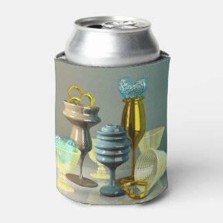 カクテルグラスのスタイリッシュなハートの金ゴールドのターコイズのワイン 缶クーラー