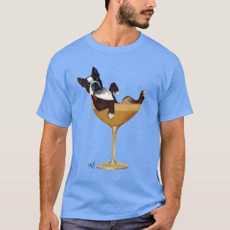 カクテルグラス2のボストンテリア Tシャツ