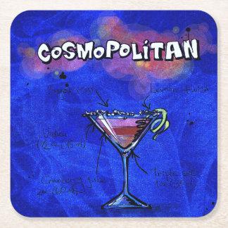 カクテルパーティーのコースターのコレクション- Cosmo スクエアペーパーコースター