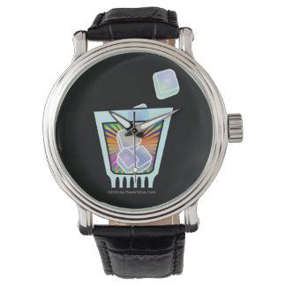 カクテル-旧式-ガラス石 腕時計