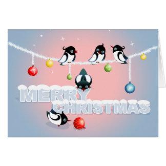 カササギおよび泡2とのクリスマス カード