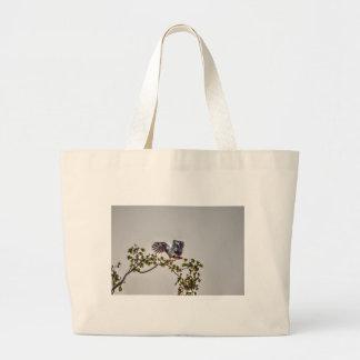 カササギのガチョウの飛行中にオーストラリアの芸術の効果 ラージトートバッグ
