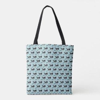 カササギのトートの青 トートバッグ
