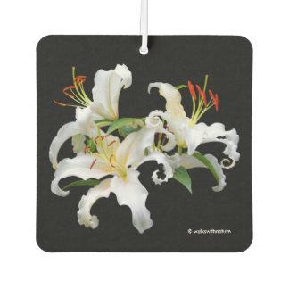 カサブランカエレガントな白い東洋ユリ カーエアーフレッシュナー