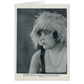 カサリンのスペンサーの1922年のヴィンテージのポートレートカード カード