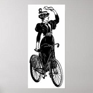 カサリンのヴィンテージのサイクリスト ポスター