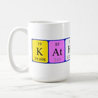 カサリンの周期表の名前のマグ コーヒーマグカップ