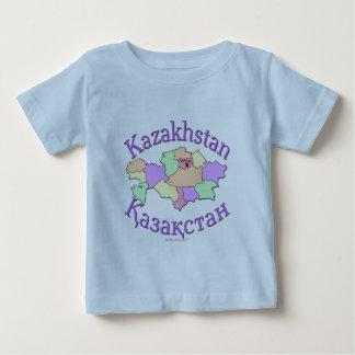 カザフスタンの地図 ベビーTシャツ