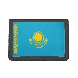 カザフスタンの旗の財布 ナイロン三つ折りウォレット