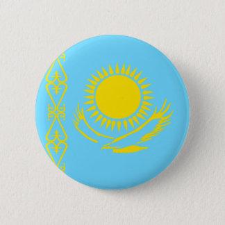カザフスタンの高品質な旗 5.7CM 丸型バッジ