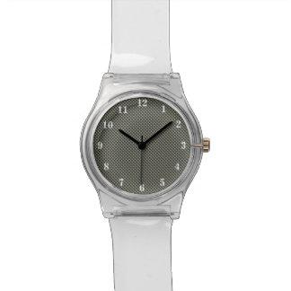 カシのもみ革の水玉模様が付いているカスタマイズ可能な背景 腕時計