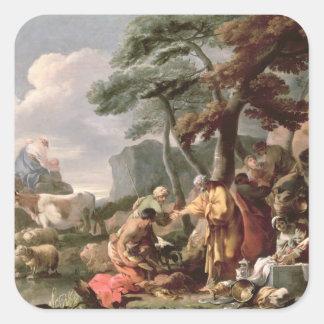 カシの下で奇妙な神を埋めているヤコブ スクエアシール