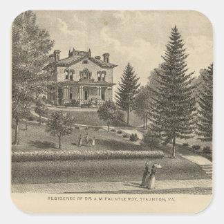 カシの丘のFauntleroyの住宅 正方形シール・ステッカー