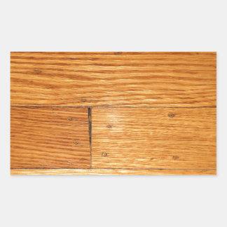 カシの堅木張りの床 長方形シール・ステッカー