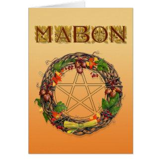 カシの手紙が付いているMabonのリース グリーティングカード