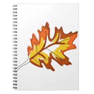 カシの秋の葉 ノートブック