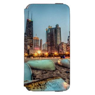 カシの通りのカヌーは日没の後で少しを浜に引き上げます INCIPIO WATSON™ iPhone 5 財布型ケース