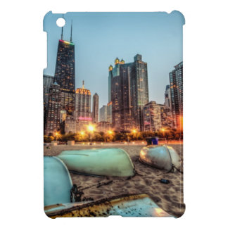 カシの通りのカヌーは日没の後で少しを浜に引き上げます iPad MINIケース
