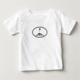 カシは楕円形の設計を騙します ベビーTシャツ