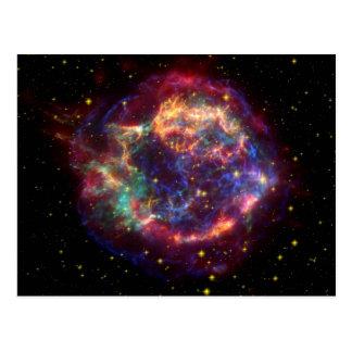 カシオペア座の銀河系の超新星の残り ポストカード