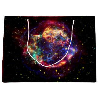 カシオペア座の銀河系の超新星の残り ラージペーパーバッグ