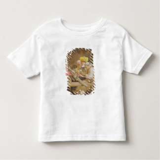 カシミヤ織のショール: 1863年編むこと(chromolitho) トドラーTシャツ
