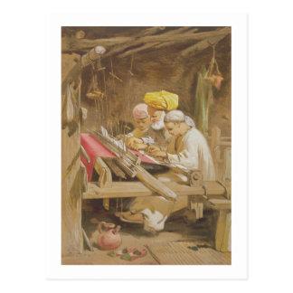 カシミヤ織のショール: 1863年編むこと(chromolitho) ポストカード