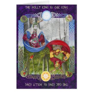 カシ王およびヒイラギ王の二重ポートレート カード