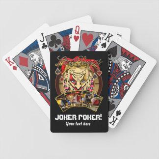 カジノのスタイルのジョーカーのトランプのポーカーはノートを見ます バイスクルトランプ