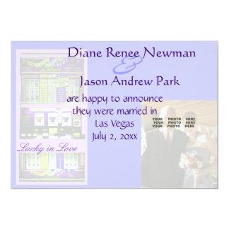 カジノのスロットマシンの結婚式の発表 カード