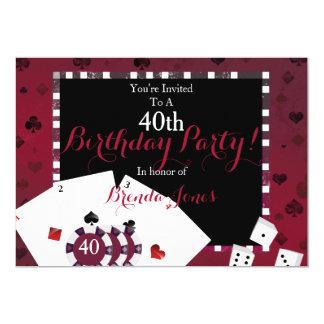 カジノのテーマの誕生会 カード