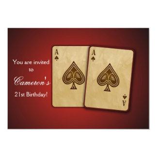 カジノのパーティの招待状 カード