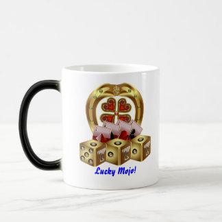 カジノのパーティーの二重ロゴの幸運なMojoの眺めのノート モーフィングマグカップ