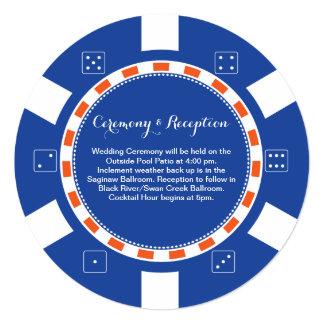 カジノのポーカー用のチップ の結婚情報 カード