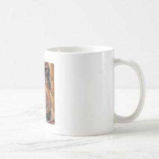 カジノのルーレット盤のモンタージュ コーヒーマグカップ