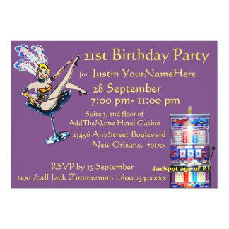 カジノの大当たりのショーガールの誕生日 カード