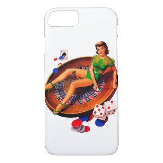 カジノの女の子ラスベガスの上のPin iPhone 8/7ケース