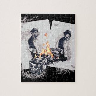 カジノの演劇の火のサイコロ ジグソーパズル