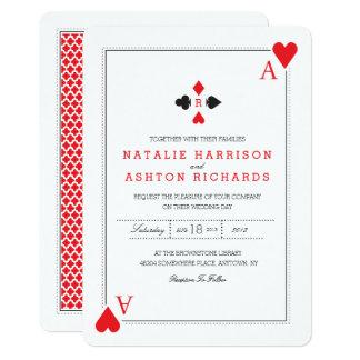 カジノの結婚式の招待 カード