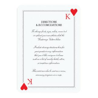 カジノの結婚式の挿入物カード カード
