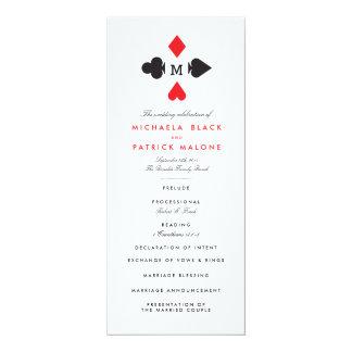 カジノの結婚式プログラム 10.2 X 23.5 インビテーションカード