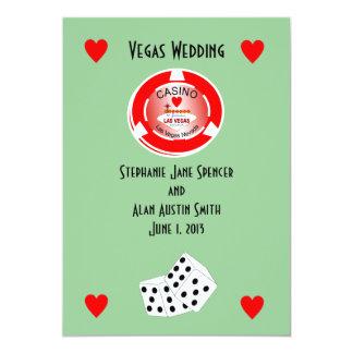 カジノの結婚式招待状 カード