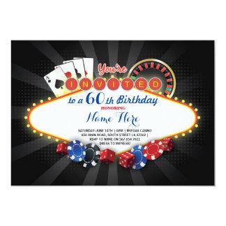 カジノの誕生日夜ラスベガスのパーティーカード招待 カード