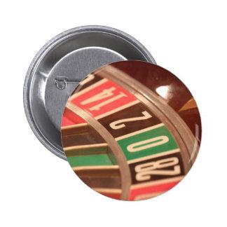 カジノの賭博のルーレット盤のヴィンテージのレトロのスタイル 5.7CM 丸型バッジ