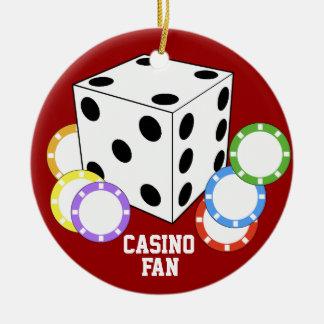 カジノファン愛トランプのポーカーのオーナメント セラミックオーナメント