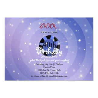カジノベガスのスタイルの誕生日の招待 カード