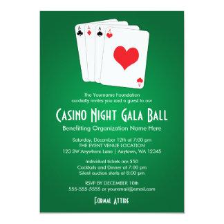 カジノ夜お祭りの球の招待状 カード