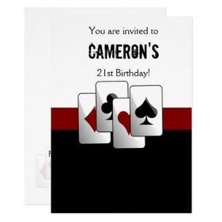 カジノ夜パーティの招待状 カード