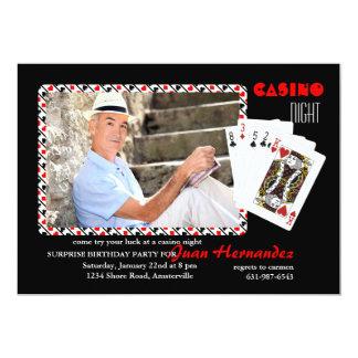 カジノ夜写真の招待状 カード